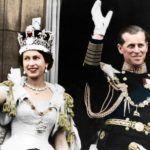 II. Erzsébet királynő és Fülöp herceg első közös balkon-jelenete a koronázás után