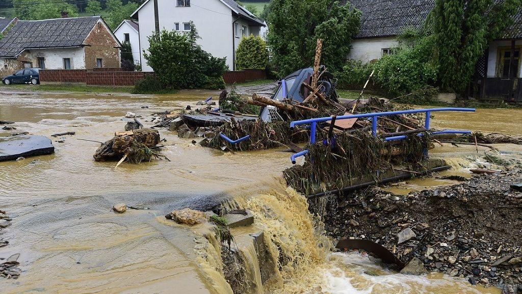 Árvíz Csehországban - Fotó: MTI