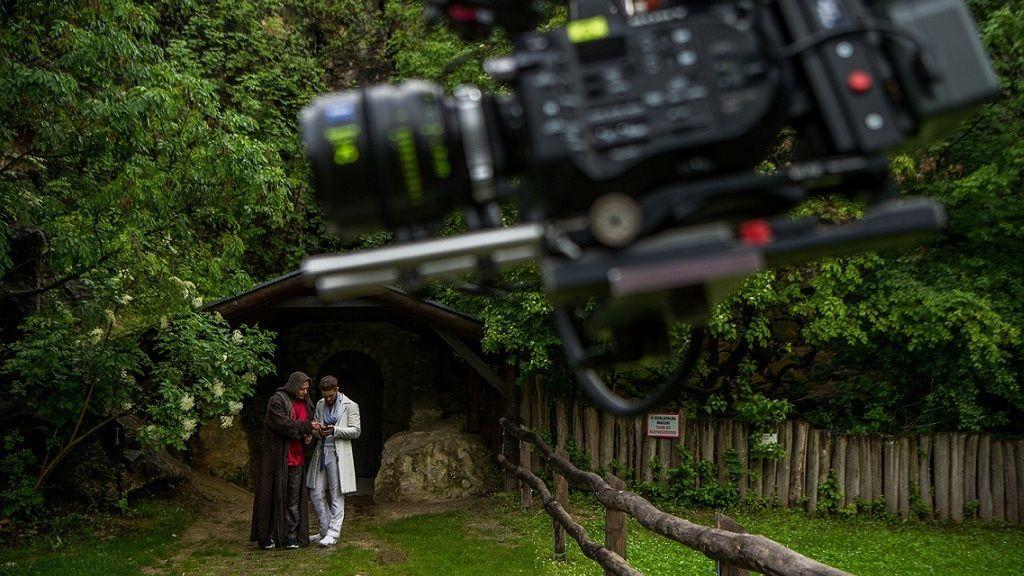 Forgatás a Pálvölgyi barlangban - Fotó: MTI