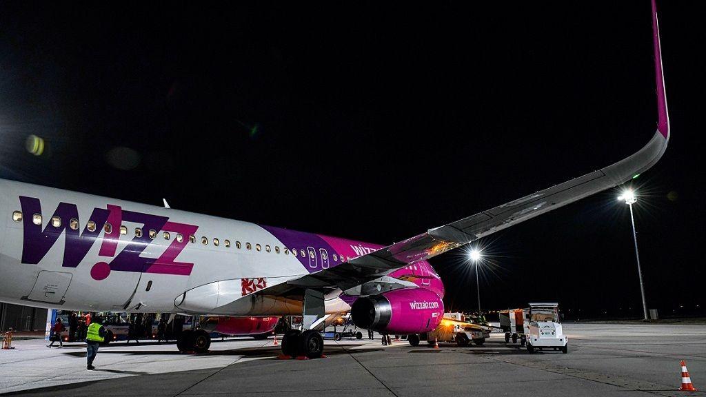 WizzAir járat Debrecenben - Fotó: MTVA/Bizományosi: Oláh Tibor