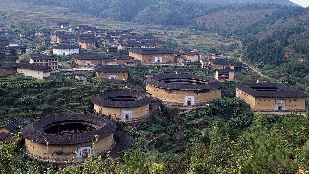 Hakka falu Kína Fujian tartományában - Fotó: Getty