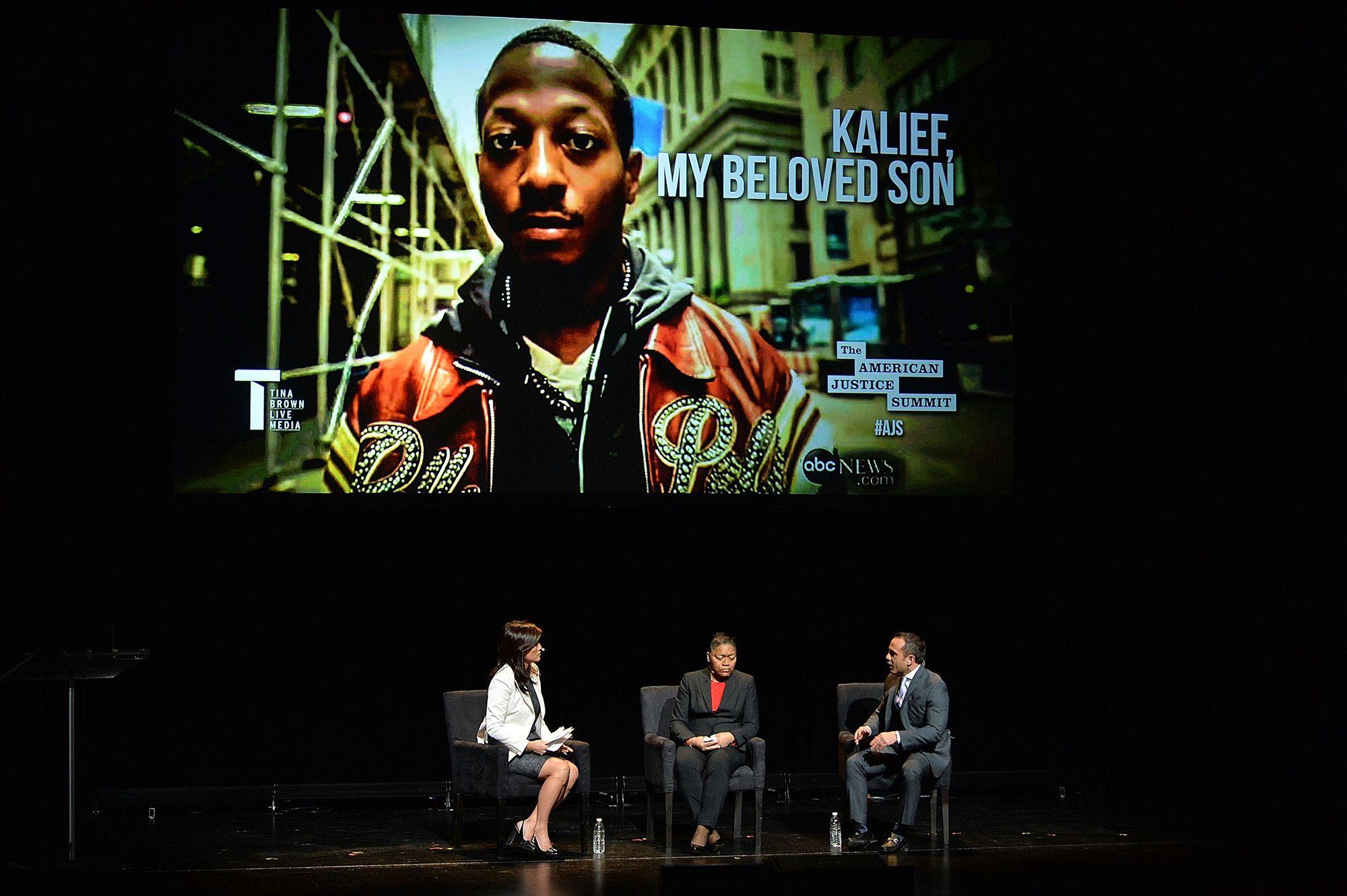 Kalief Browder édesanyja, Venida egy kerekasztal-beszélgetésen (fotó: Slaven Vlasic/Getty Images)