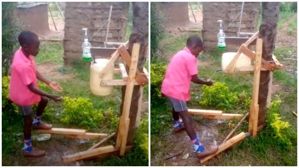 érintésmentes kézmosó kenya