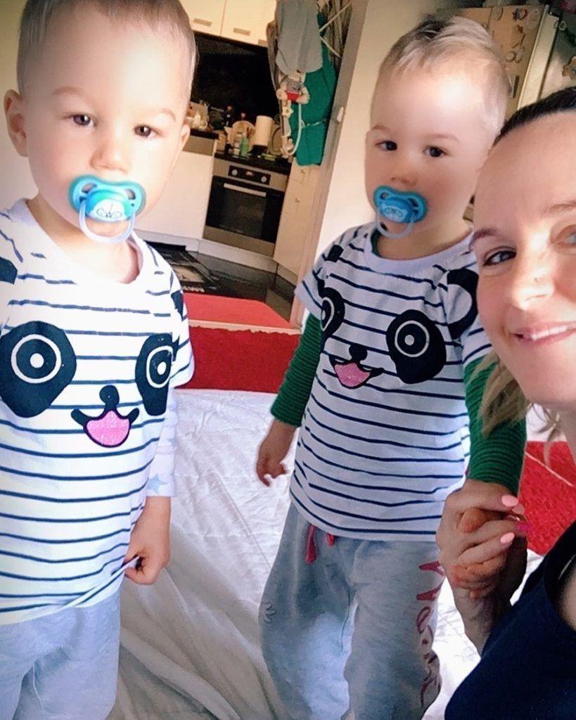Kollányi Zsuzsi ikrei, Bálint és Bence már kétévesek (Fotó: Instagram)