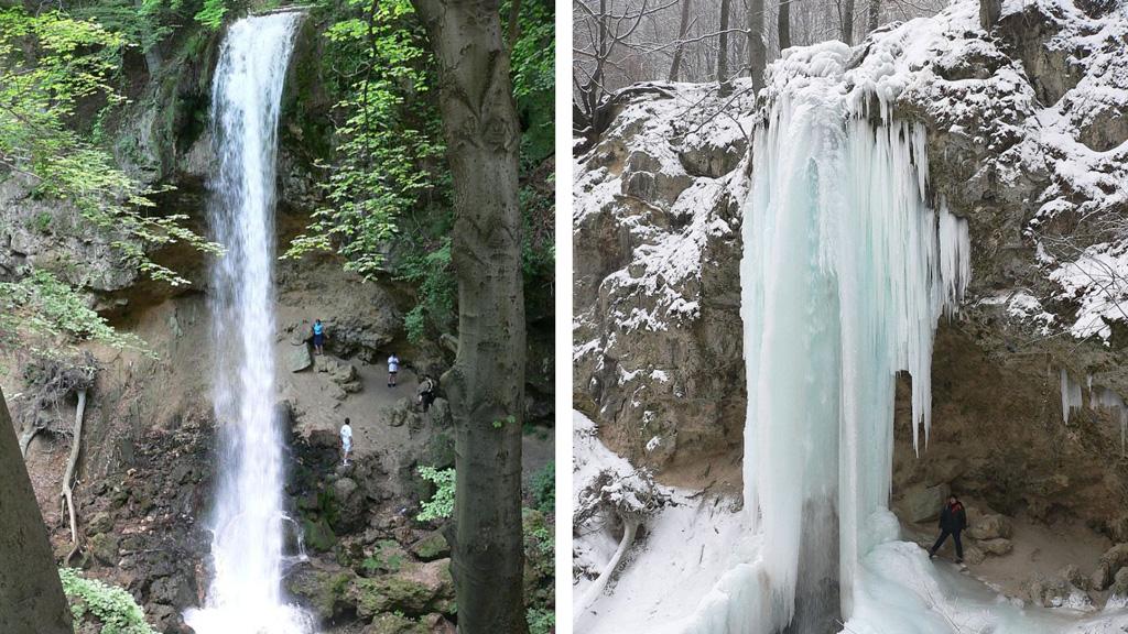 Amikor télen befagy a lillafüredi vízesés, egészen mesébe illő látványt nyújt.