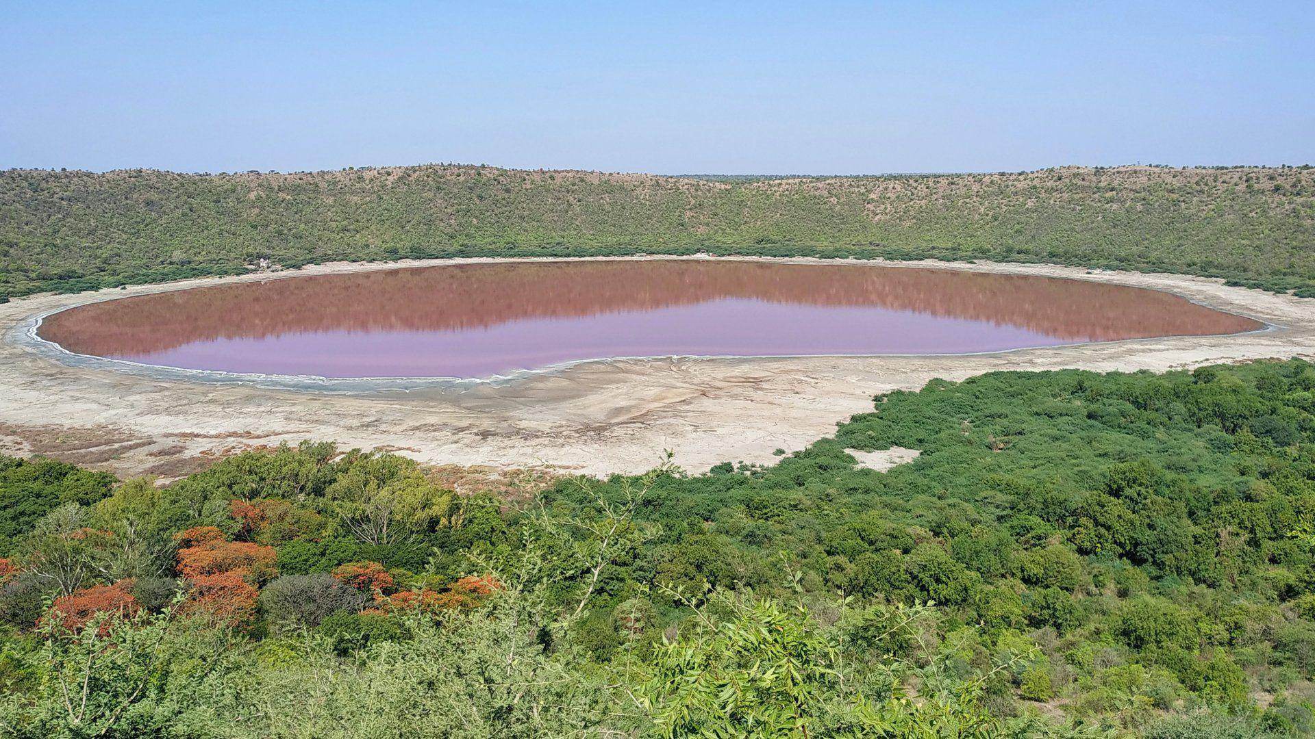 rózsaszín tó india