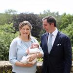 Vilmos luxemburgi trónörökös, a felesége és a fia