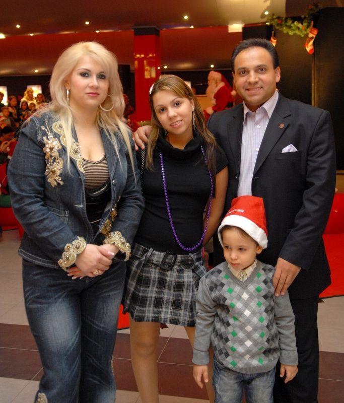 Mága Zoltán és a családja,