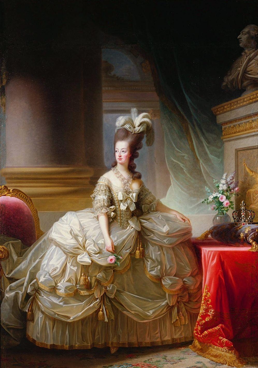 A királyné 1778-ban a francia festőnő, Élisabeth Vigée Le Brun olajfestményén / Forrás: Wikipedia