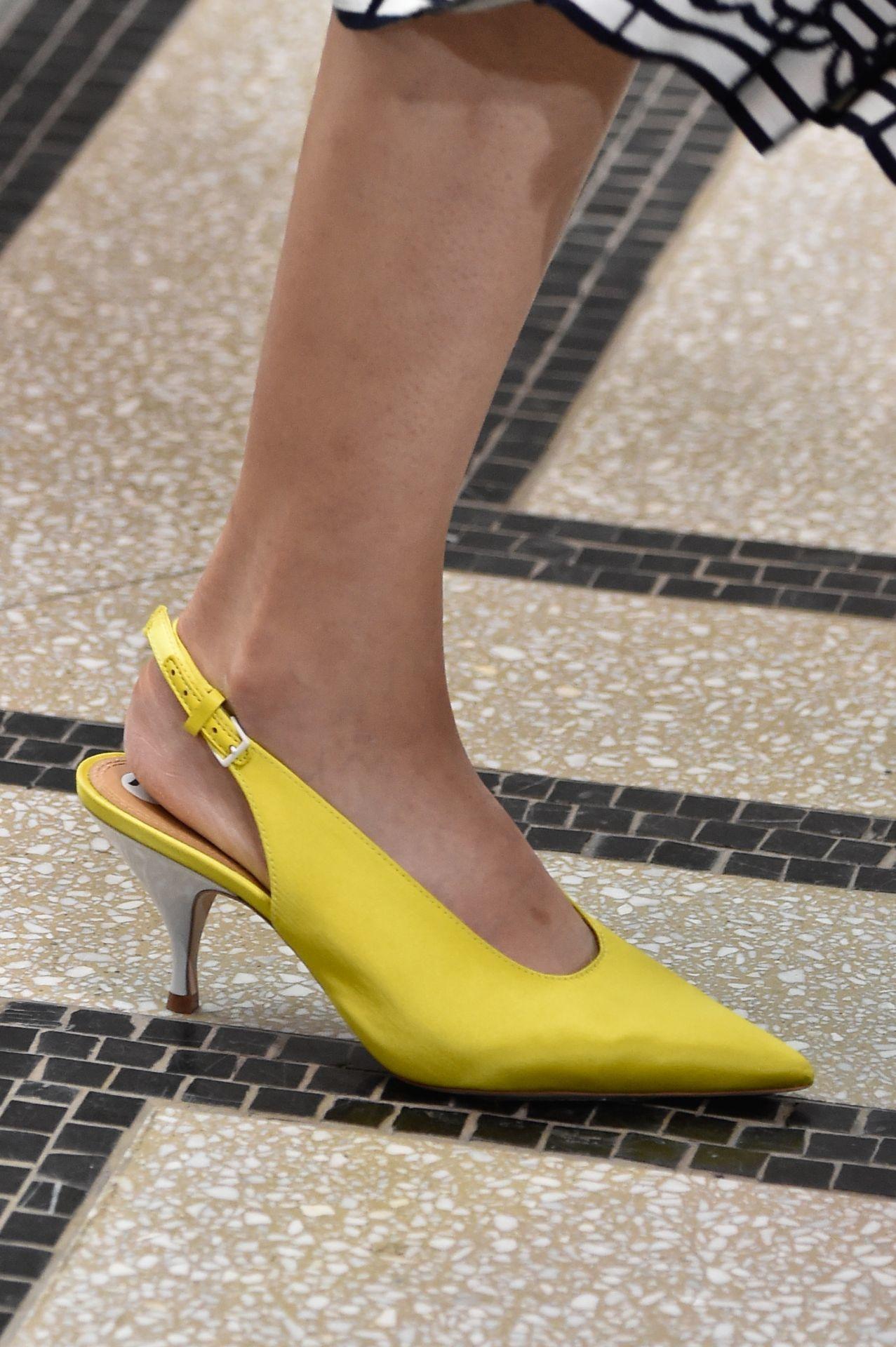 sárga slingback szandál - Tory Burch