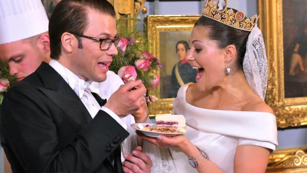 Viktória svéd hercegnő az esküvőjén