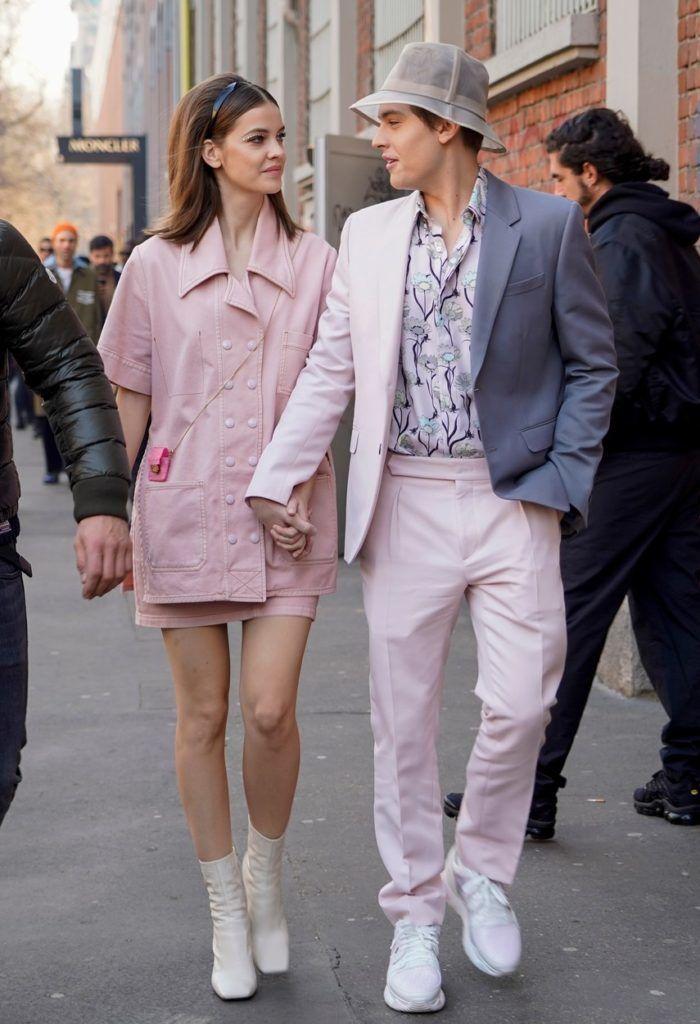 Palvin Barbara és Dylan Sprouse a milánói divathéten