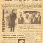Korabeli újságcikk Wallis Simpson és VIII. Eduárd brit király esküvőjéről.