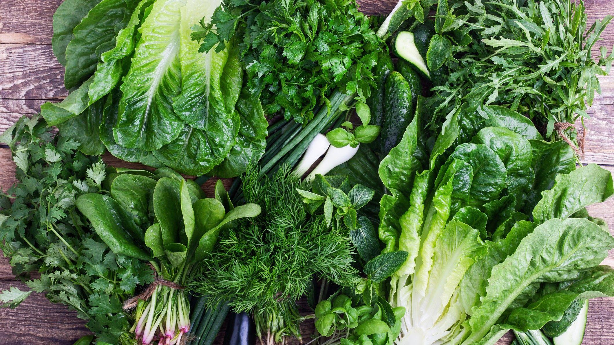 Különbözőféle salátalevelek