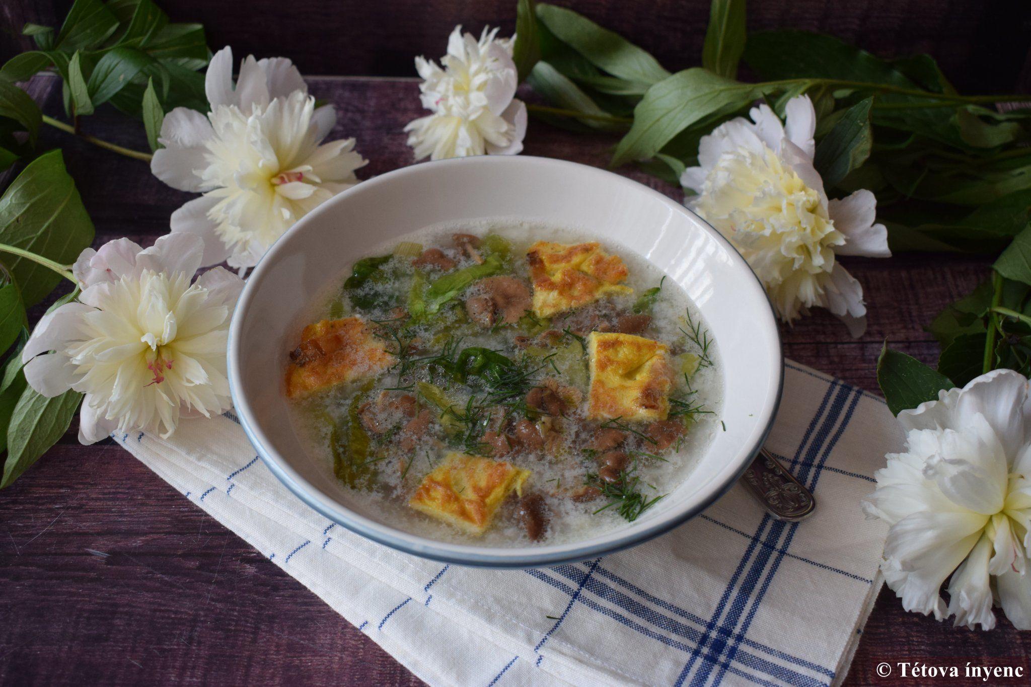 Salátaleves szegfűgombával