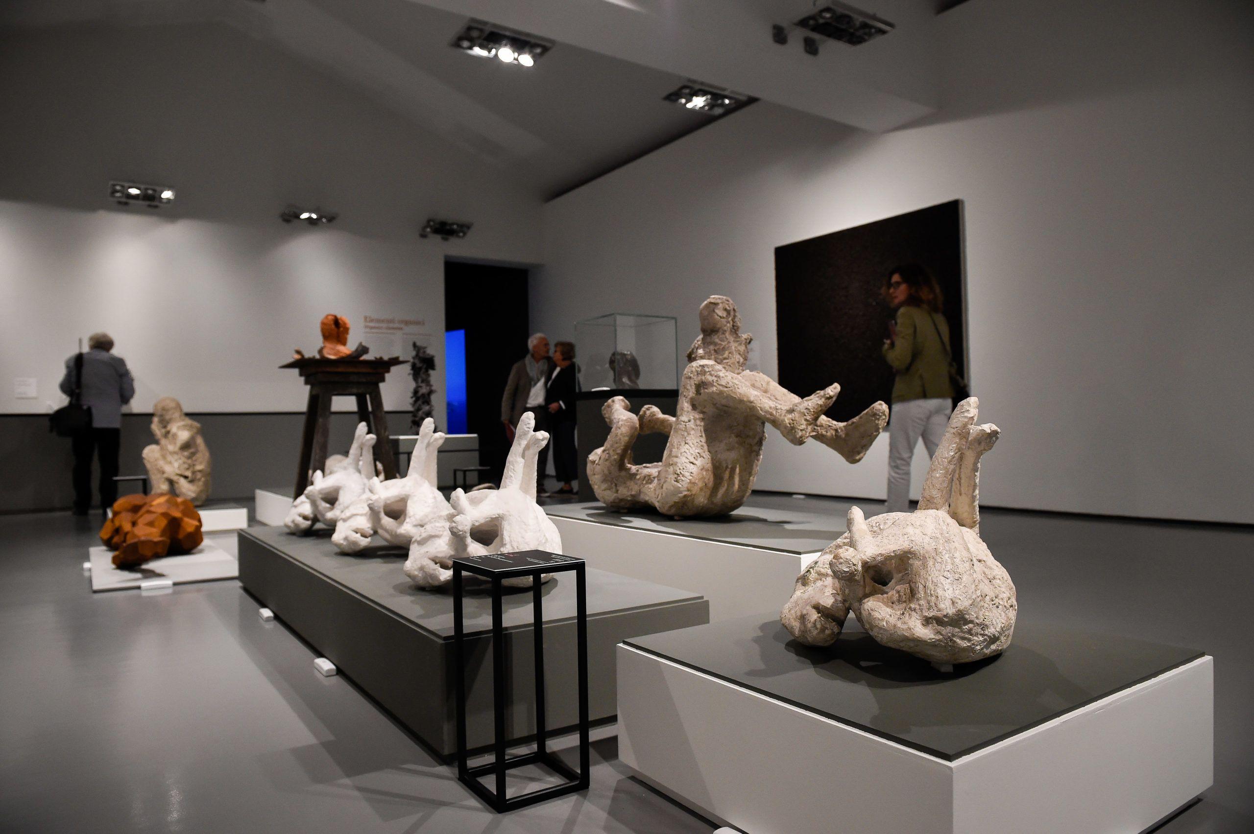 Egy Szantorini és Pompeii maradványait bemutató kiállítás Rómában, 2019 őszént (fotó: Marilla Sicilia/Archivio Marilla Sicilia/Mondadori Portfolio via Getty Images)