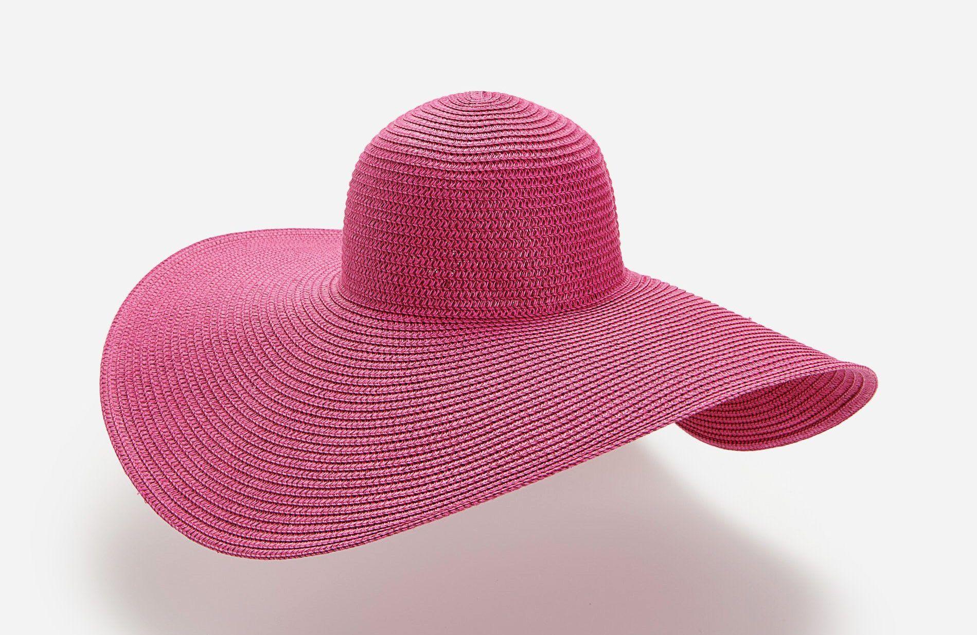 Széles karimájú fonott kalap - Reserved