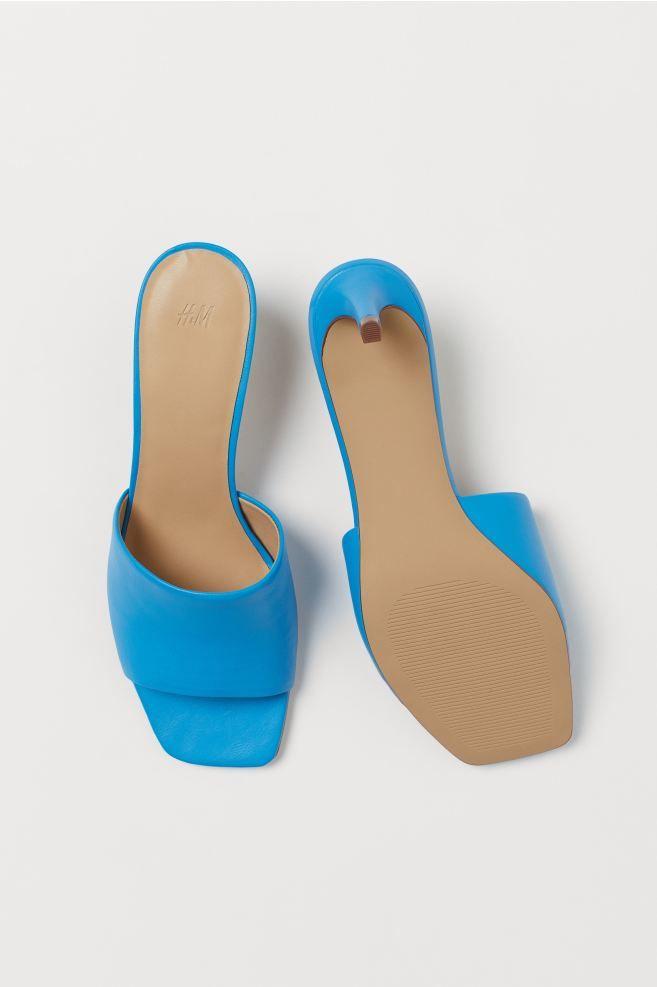 szögletes orrú papucs - H&M