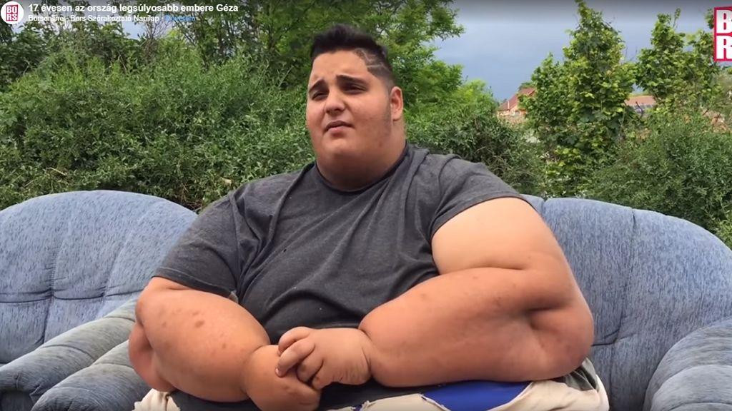 Géza a Prader Willi szindróma miatt túlsúlyos