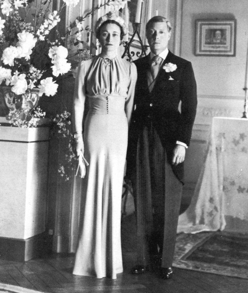 Wallis Simpson és VIII. Eduárd brit király esküvői fotója.