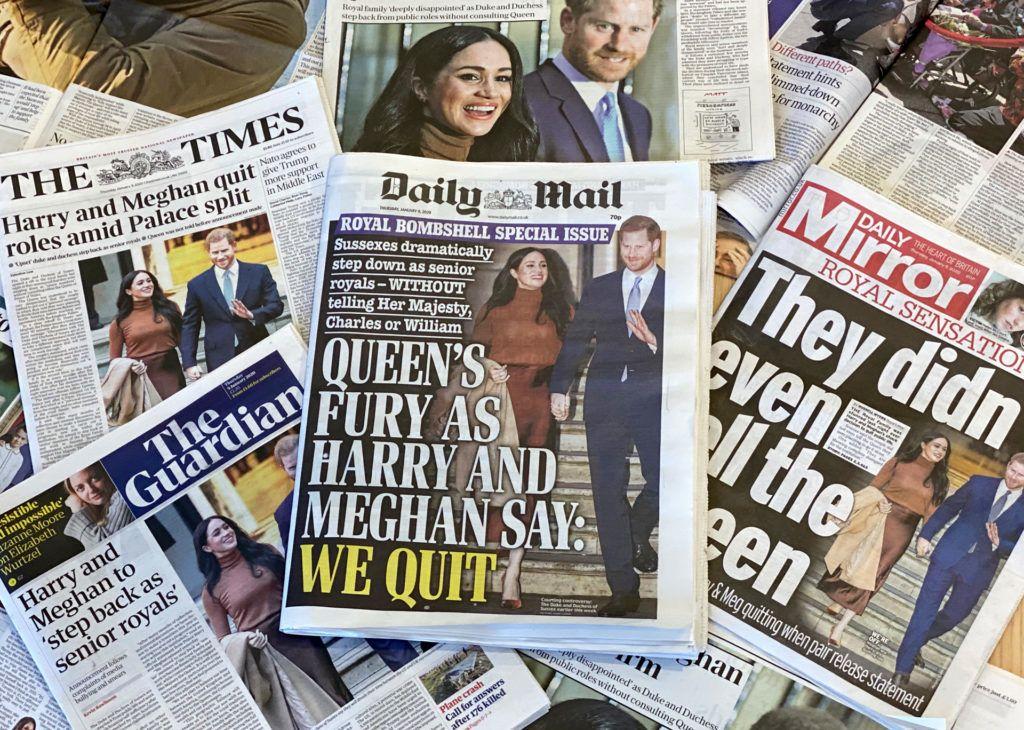 Harry és Meghan szakítása a címlapokon