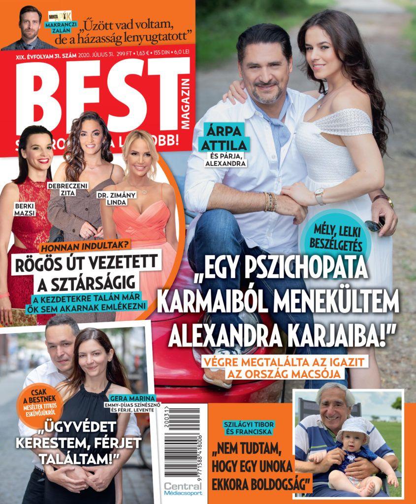 Árpa Attila és Alexandra A BEST címlapján
