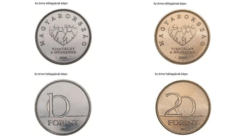 Új 10 és 20 forintos érmék jönnek a járvány hőseinek tiszteletére