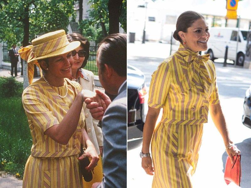 Szilvia királyné Moszkvában, Viktória hercegnő pedig Stockholban viselte a ruhát