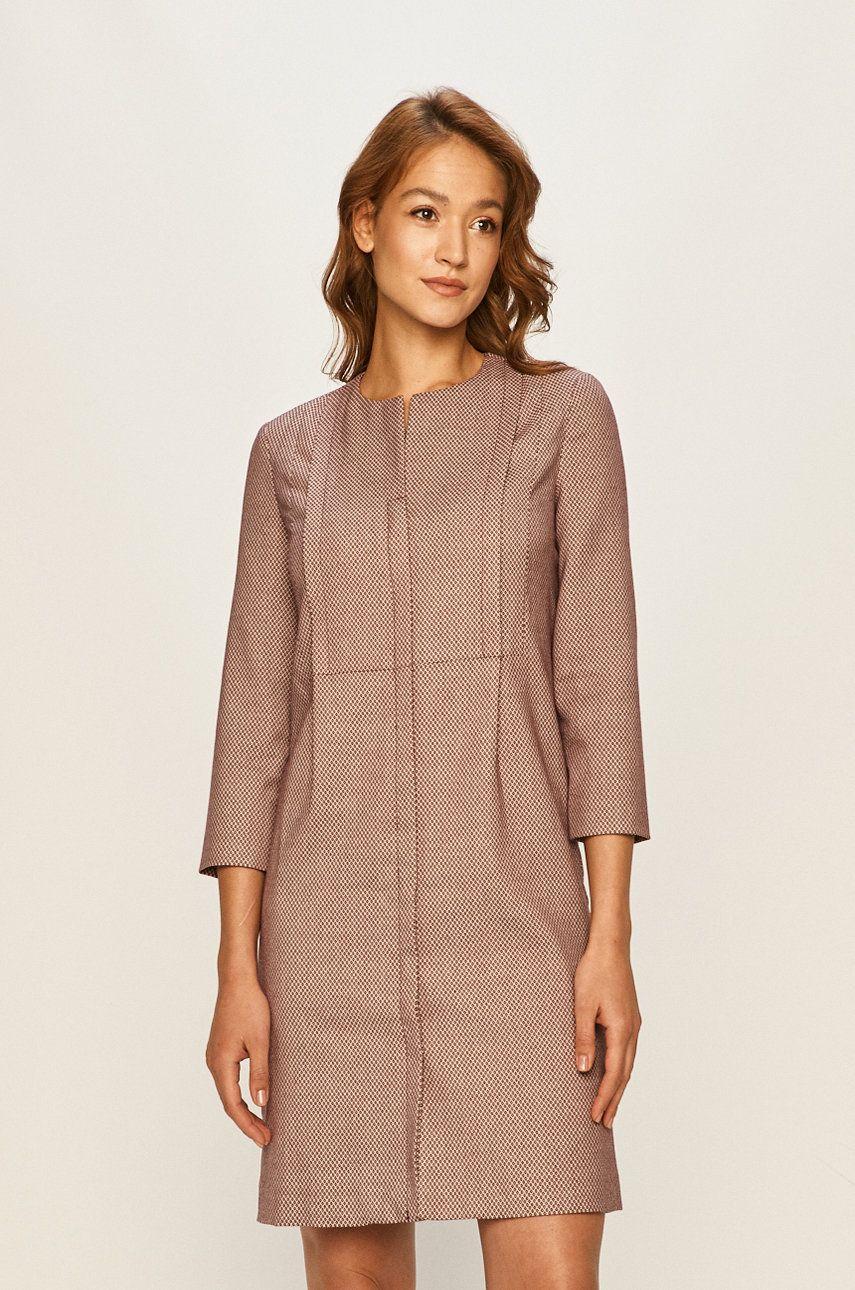 Anyagában mintás ruha - Stefanel - Answear