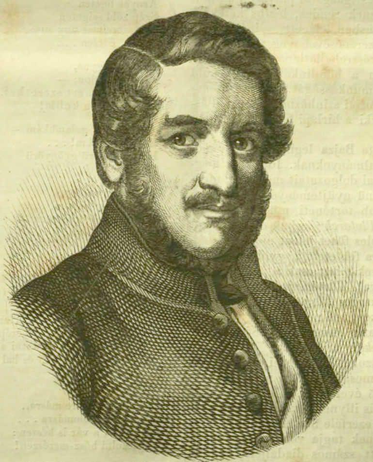 Bajza József portréja (forrás: dka.oszk.hu)