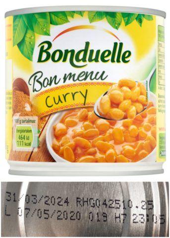 Bonduelle fehérbab konzerv termékvisszahívás