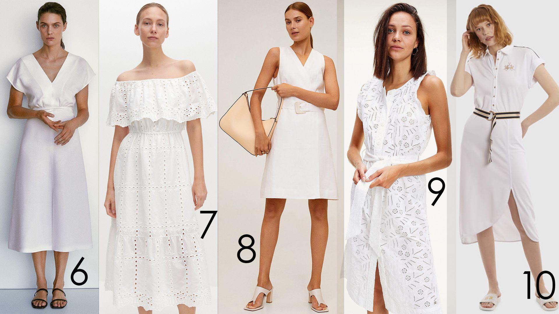 fehér ruhák nyárra