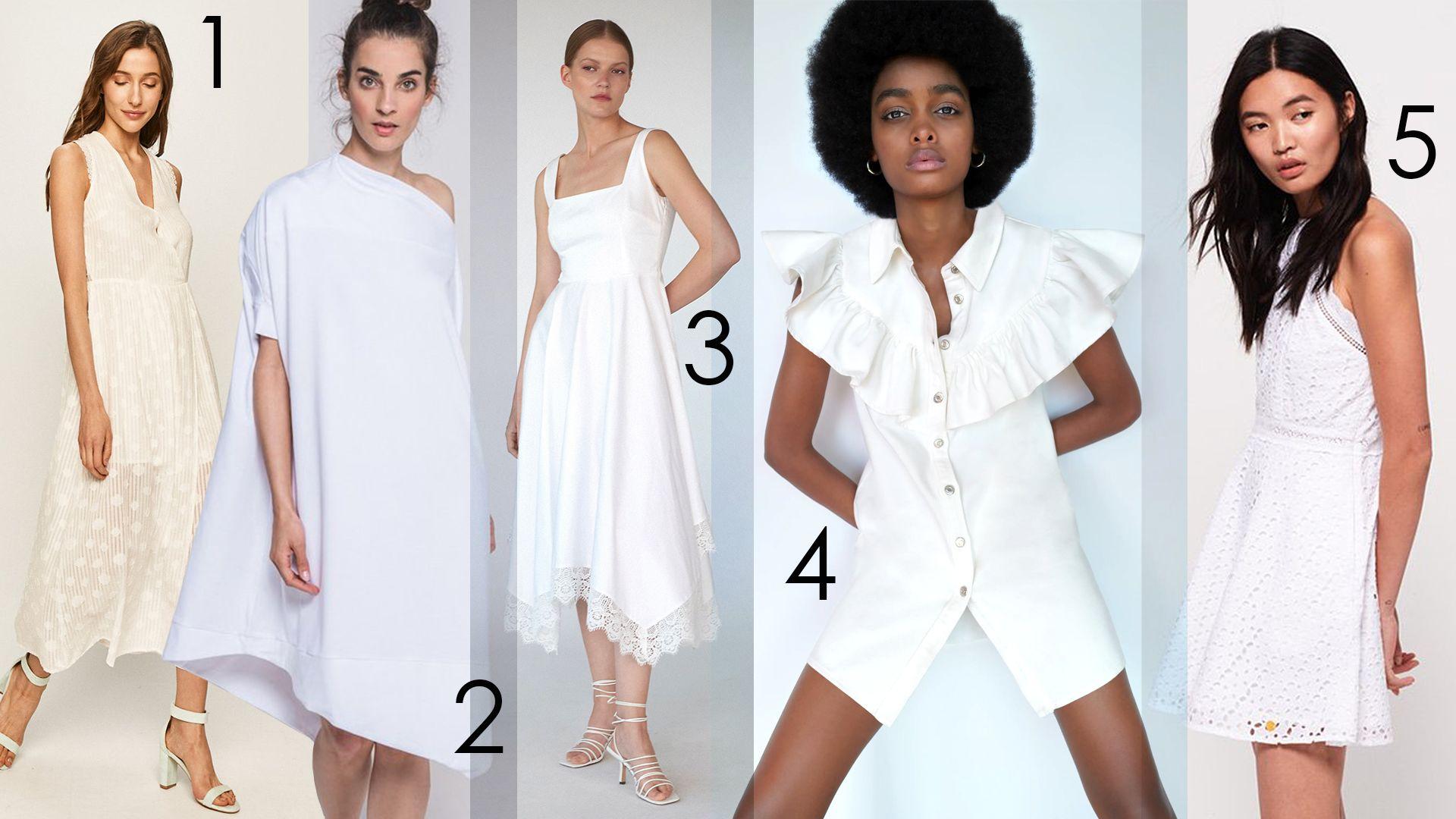 nyári fehér ruhák