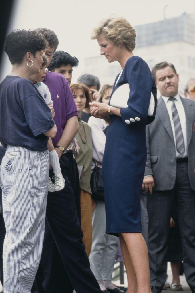 Diana hercegnő a Pető Intézetnél