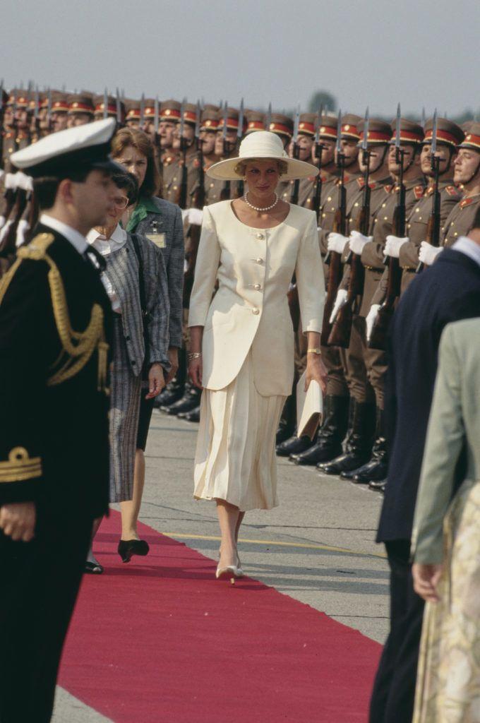 Diana hercegnő Ferihegyen