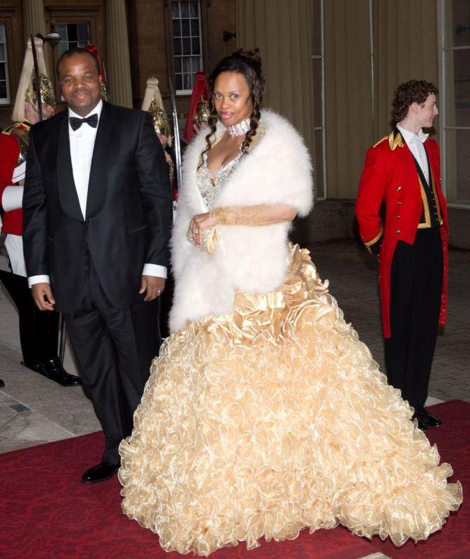 III. Mswati király és felesége Sibonelo