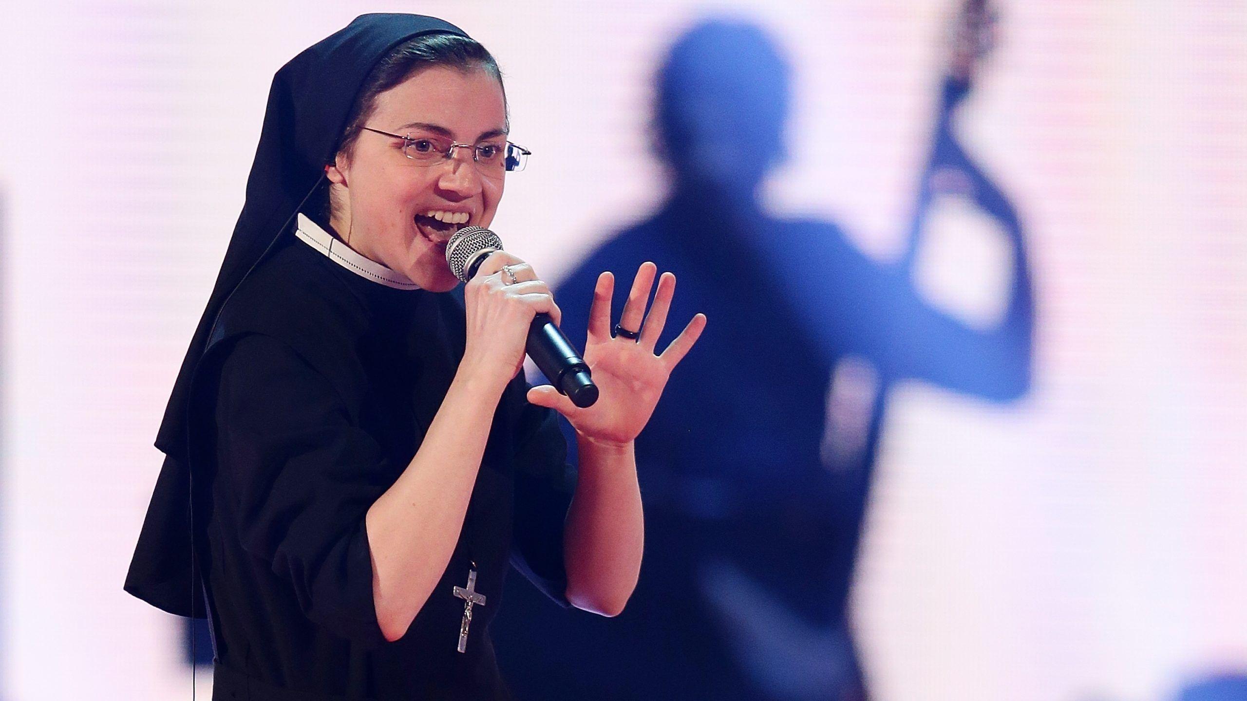 Cristina Scuccia az olasz Voice-ban, 2014-ben