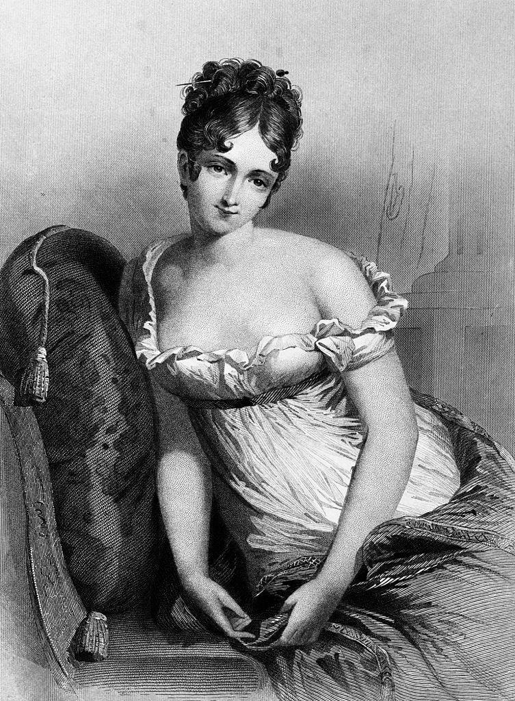 Madame Recamier empire ruhában