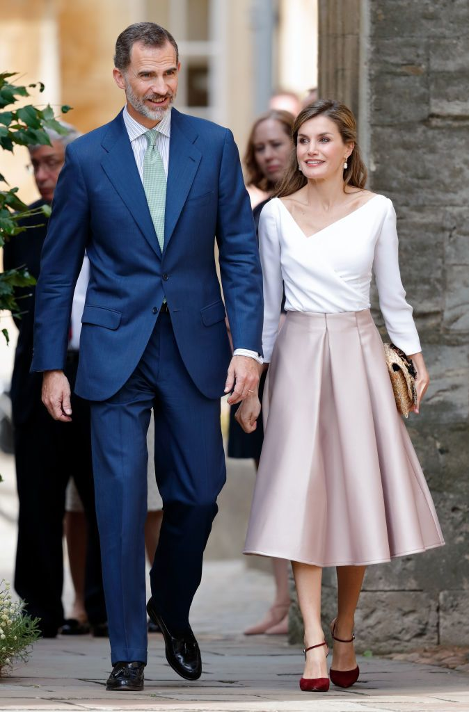A spanyol királyi pár 2017-es angliai látogatásán (Fotó: Max Mumby/Indigo/Getty Images)