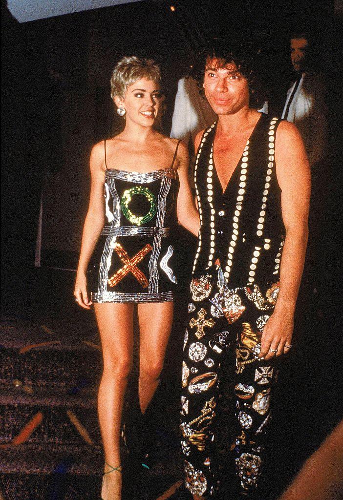 Kylie Minogue és Michael Hutchence, az INXS tragikus sorsú frontembere 1990-ben (Fotó: Getty Images)