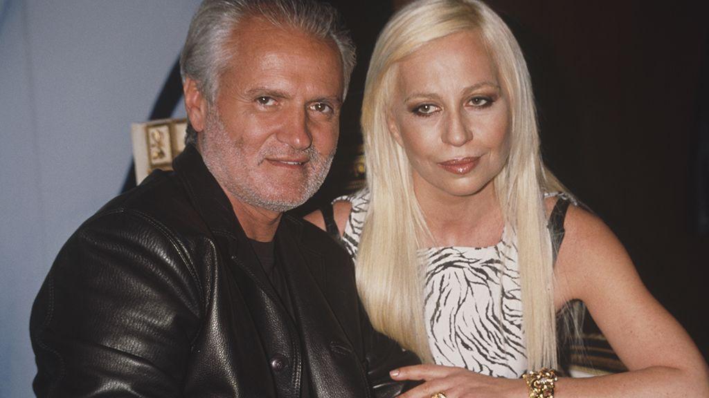Gianni Versace és testvére, Donatella Versace 1996-ban