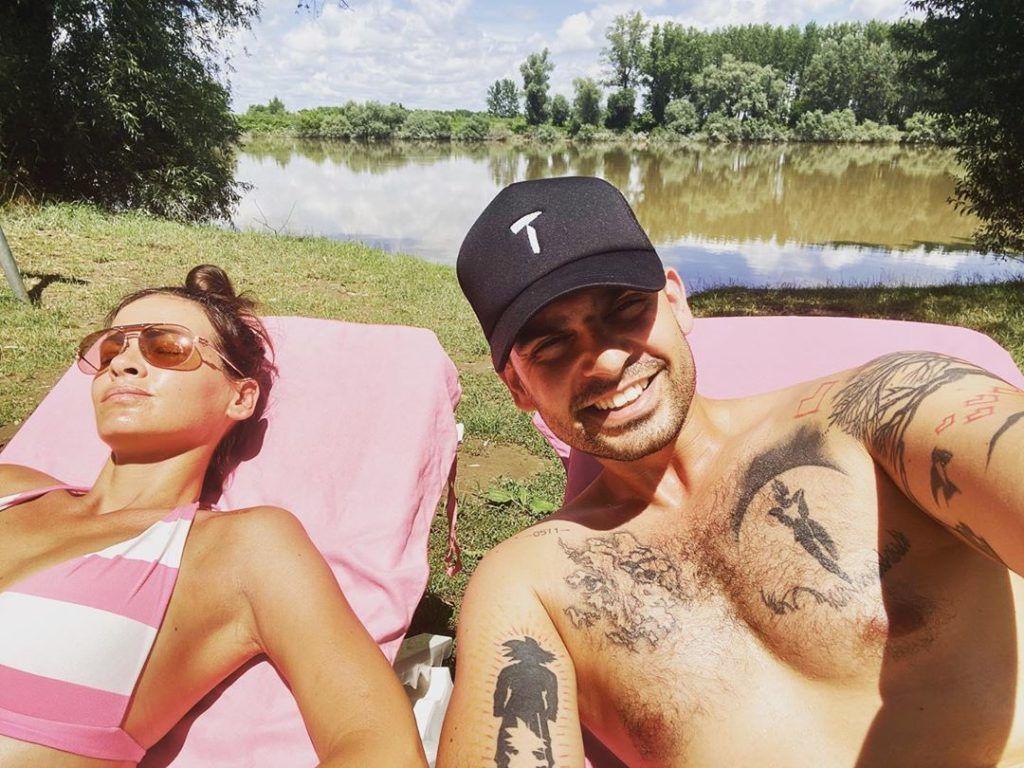 Tiszánál pihent Horváth Tomi és felesége., Andi (Fotó: Instragram)