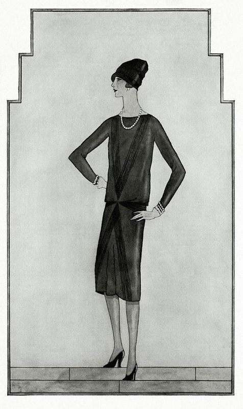 A kis fekete első illusztrációja a Vogue-ban