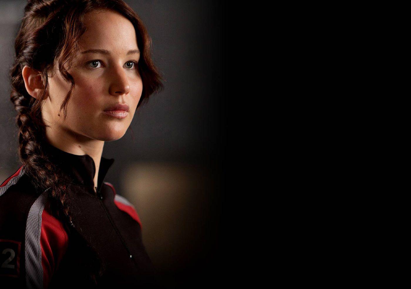 Jennifer Lawrence Katnissként Az éhezők viadala első részében (fotó: outnow.ch)