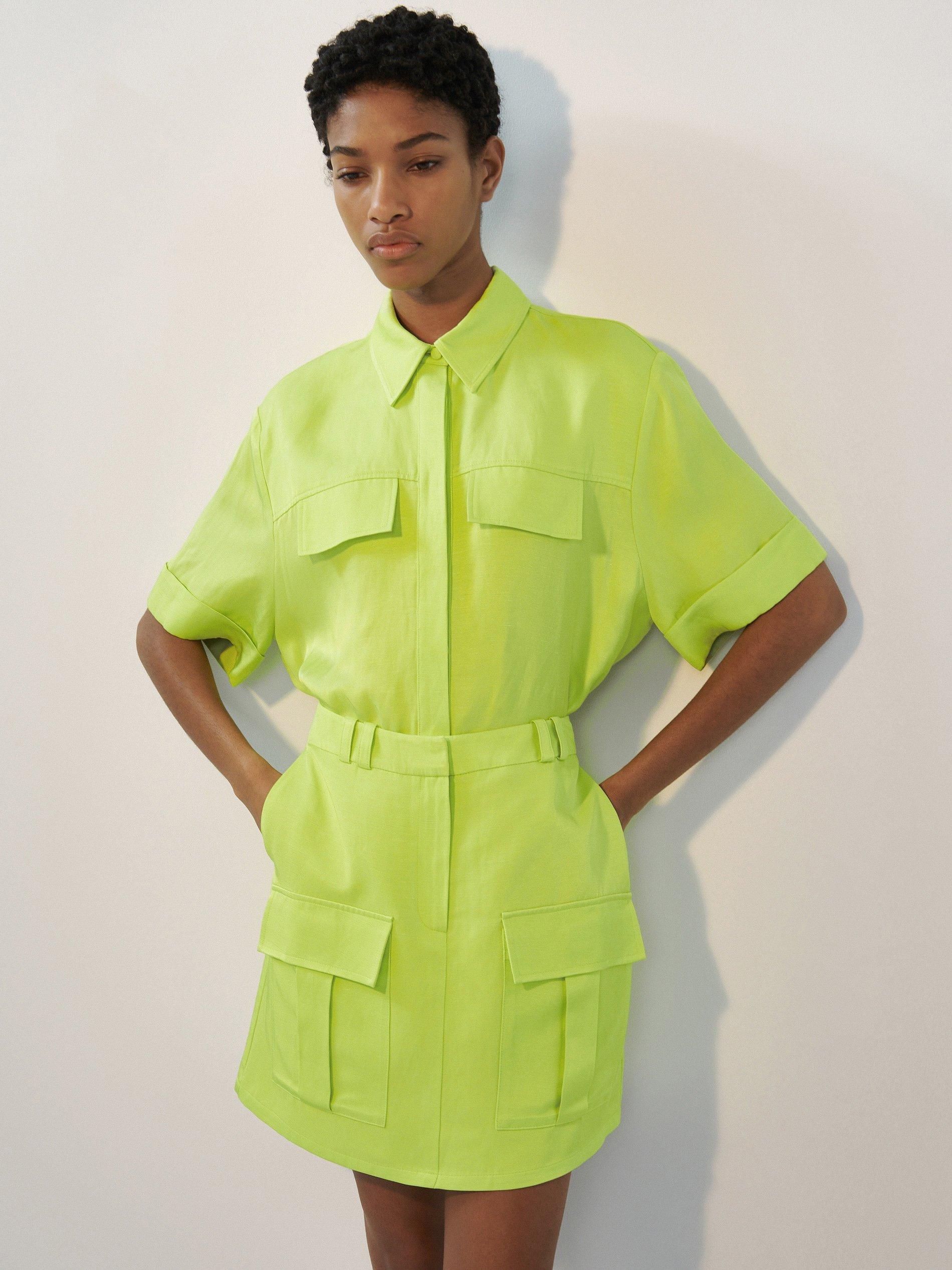 Lenkeverék, neonszínű miniszoknya - Reserved