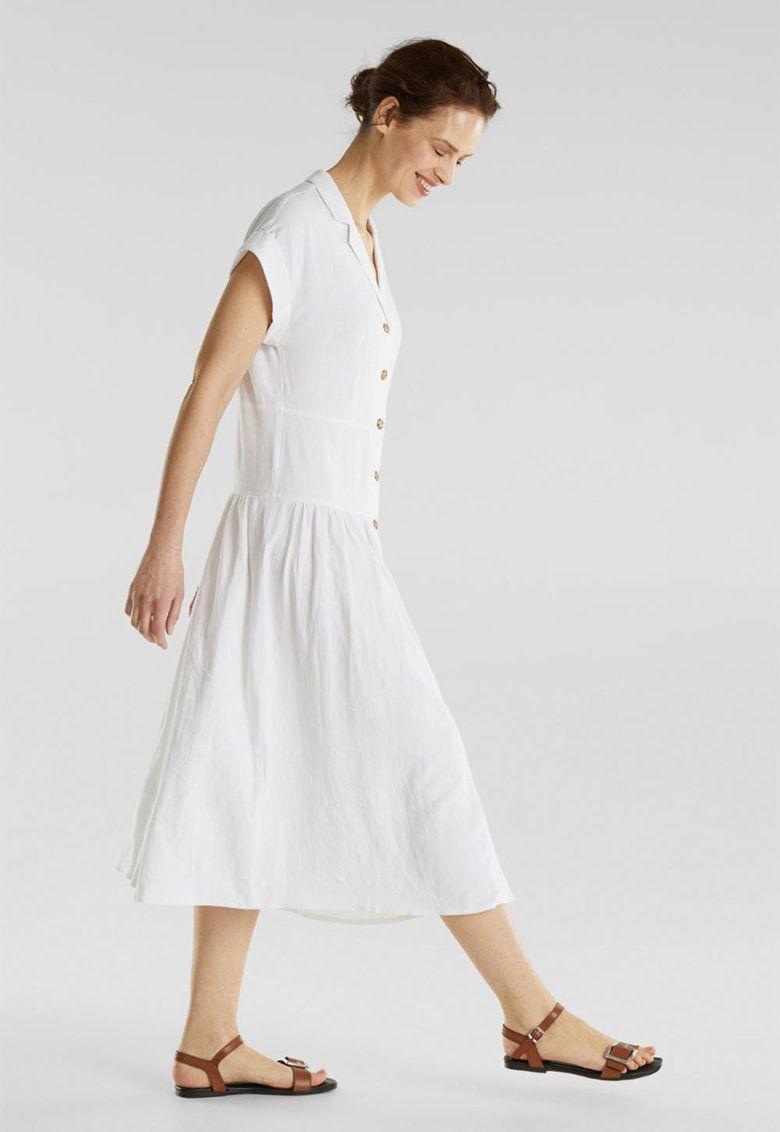 Lentartalmú gombos midiruha - Esprit - Fashion Days