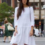 lenvászon ruha street style