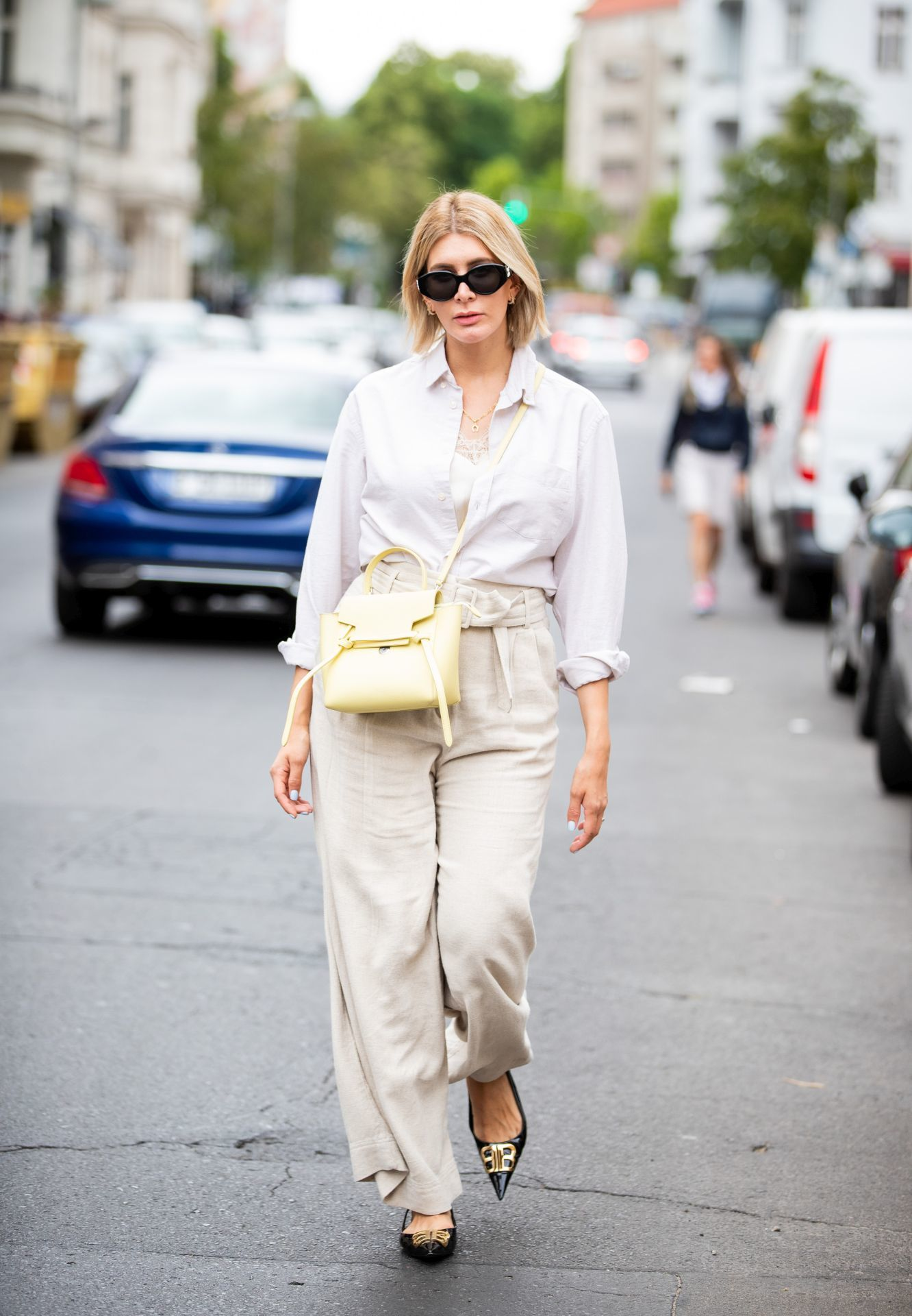 lenvászon nadrágos szett street style 8