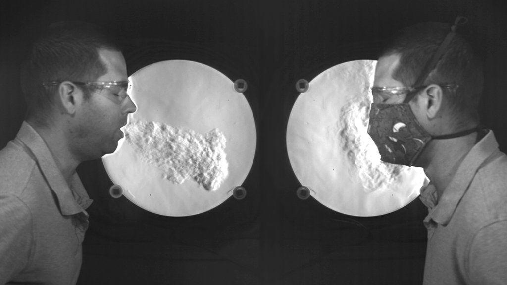 Koronavírus maszk lassított felvétel
