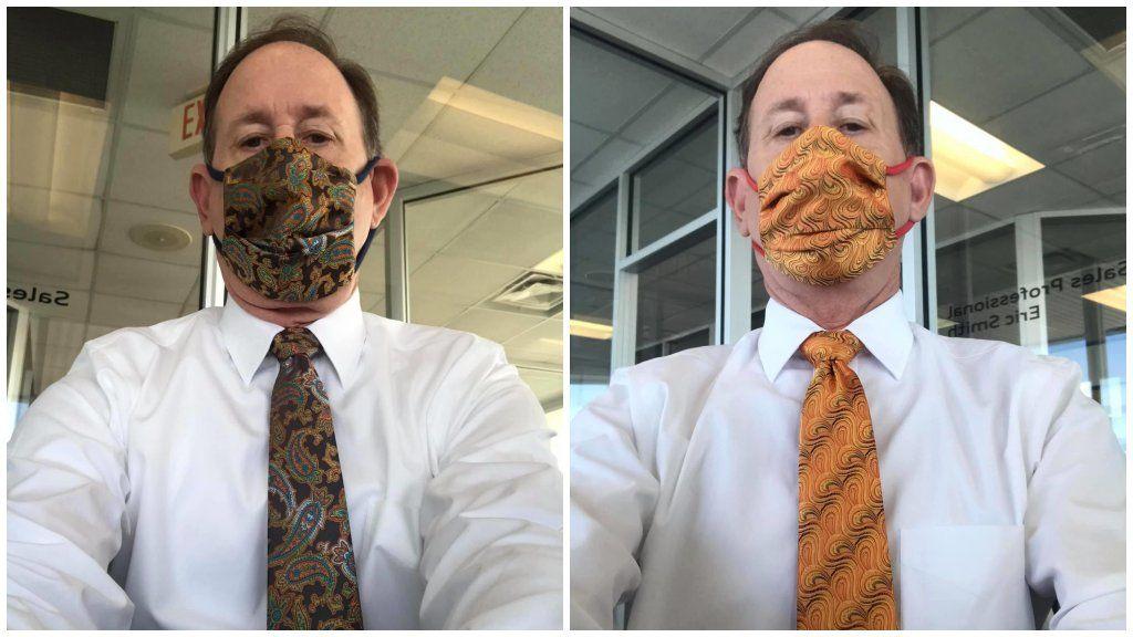 Nyakkendőhöz illő szájmaszk